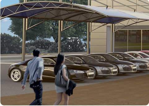 People car parking canopies